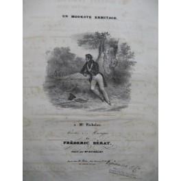 BÉRAT Frédéric Un Modeste Ermitage Chant Piano ca1840