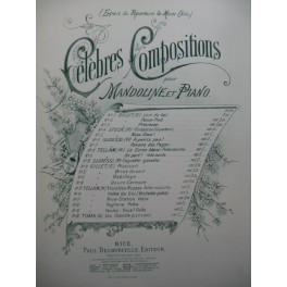 TELLAM Heinrich Veglione Polka Piano Mandoline ou Violon