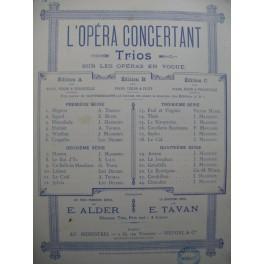MASSENET Jules Manon Trio Piano Violon Violoncelle 1894