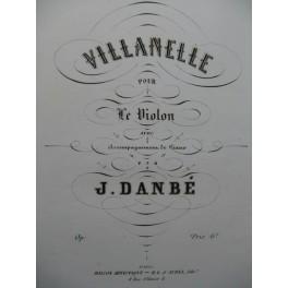 DANBÉ Jules Villanelle Violon Piano XIXe