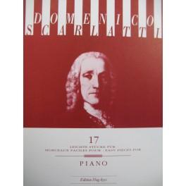 SCARLATTI Domenico 17 easy Pieces Piano