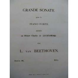 BEETHOVEN Sonate op 26 Piano 1863