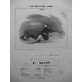MASINI F. Pauvre Étoile Fidèle Chant Piano 1830