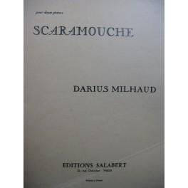 MILHAUD Darius Scaramouche 2 Pianos 4 mains 1979
