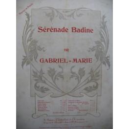 GABRIEL Marie Sérénade Badine Piano Violon