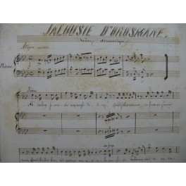 BORDÈSE Luigi Jalousie d'Orosmane Manuscrit Chant Piano XIXe