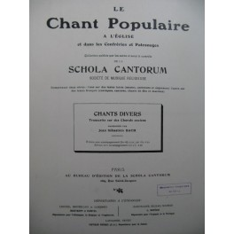 BACH J. S. Chants divers Chorals anciens Chant 1912