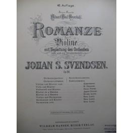 SVENDSEN Johan Romanze Violon Piano ca1900