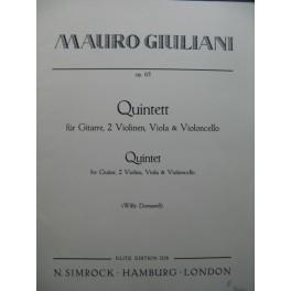 GIULIANI Mauro Quintett Guitare Violons Alto Violoncelle