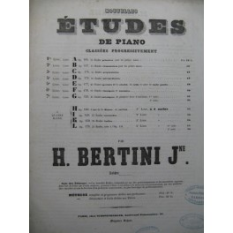 BERTINI Henri 25 Etudes Préparatoires op 175 Piano ca1850