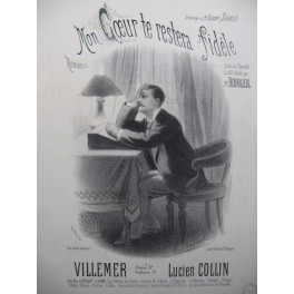 COLLIN Lucien Mon Coeur te restera Fidéle Chant Piano XIXe