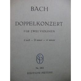 BACH J. S. Doppelkonzert 2 Violons Orchestre