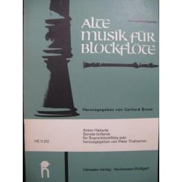 HEBERLE Anton Sonate Brillante Recorder Flûte à bec solo