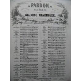 MEYERBEER G. Le Pardon de Ploërmel No 2 Chant Piano ca1860
