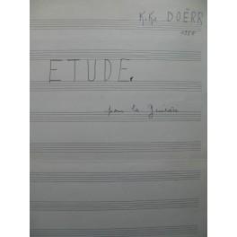 DOËRR Charles-Kiko Etude Manuscrit Guitare 1955