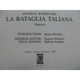 WERRECORE Mathias La Bataglia Taliana Chant seul 1987