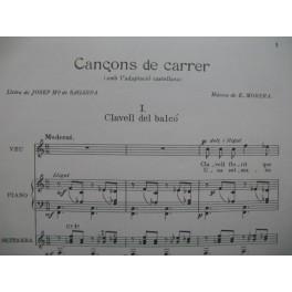 MORERA E. Cançons de Carrer Chant Piano ou Guitare 1955