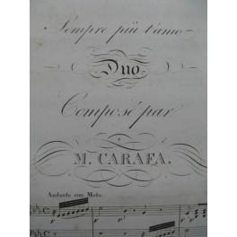 CARAFA Michele Sempre piu t'amo Duo Chant Piano XIXe