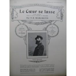 MARCHETTI F. D. Le Cœur se lasse Piano