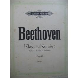 BEETHOVEN Klavier Konzert op 73 pour 2 Pianos 4 mains