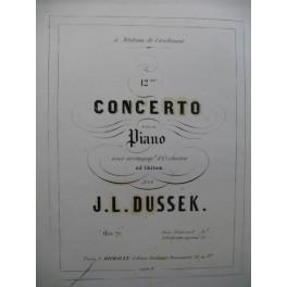 DUSSEK J. L. 12ème Concerto Piano ca1855