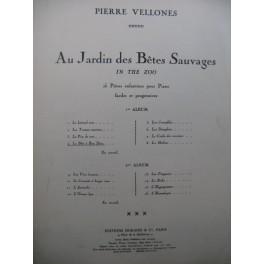 VELLONES Pierre Au Jardin des Bêtes Sauvages No 4 La Bête à Bon Dieu Piano