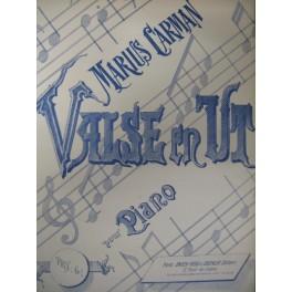 CARMAN Marius Valse en Ut piano 1888