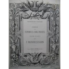 MENDELSSOHN F. Romance sans Paroles Le Nuage Piano XIXe siècle