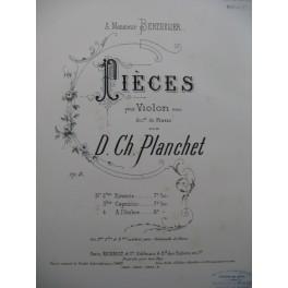 PLANCHET D. Ch. Rêverie Violon Piano 1887