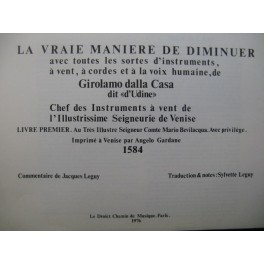 GIROLAMO dalla Casa La Vraie Manière de Diminuer 1976