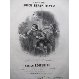 BOIELDIEU Adrien Adieu Beaux Rêves Chant Piano ca1845