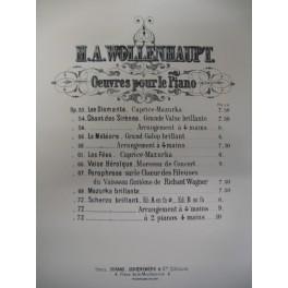 WOLLENHAUPT Hermann Adolf Scherzo op 72 piano