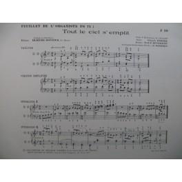 LEJEUNE-BONNIER Eliane Tout le ciel s'emplit Orgue 1968