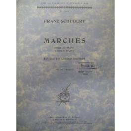 SCHUBERT Franz 16 Marches pour piano