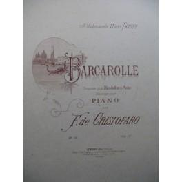 DE CRISTOFARO F. Barcarolle Piano ca1890