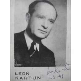 Léon Kartun Programme Dédicacé 1949