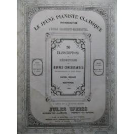WEISS Jules Mozart Allegro Sonate en ut Allegro Piano XIXe siècle