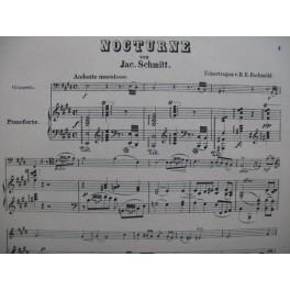 SCHMITT Jac. Nocturne Piano Violoncelle XIXe