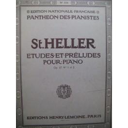 HELLER Stephen 25 Etudes op 47 No 1 et 2 Piano