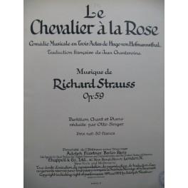 STRAUSS Richard Le Chevalier à la Rose Opéra Chant Piano 1912
