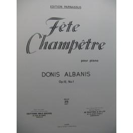 ALBANIS Donis Fête Champêtre Piano 1965