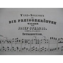 STRAUSS Josef Tanz Adressen Die Preisgekronten Piano XIXe siècle