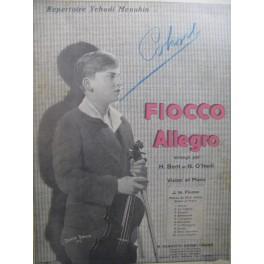 FIOCCO J. H. Allegro Piano Violon 1910