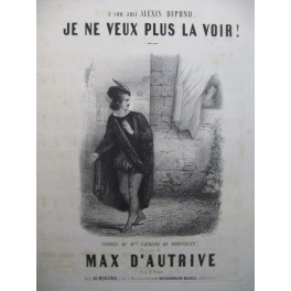 D'AUTRIVE Max Je ne veux plus la voir Chant Piano ca1840
