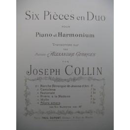 COLLIN Joseph Pleurs Amers Harmonium Piano