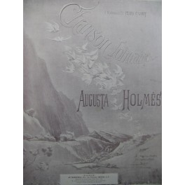 HOLMÈS Augusta Chanson Lointaine Chant Piano 1898