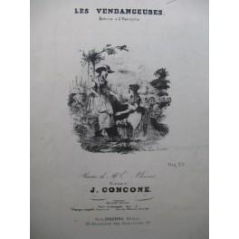 CONCONE Joseph Les Vendangeuses Chant Piano XIXe