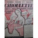 HAHN Reynaldo Ciboulette Comme Frère et Soeur Chant Piano 1923