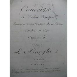 BORGHI Luigi Concerto No 5 Violon Orchestre XVIIIe