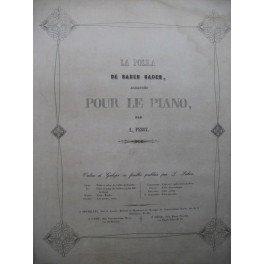 FESSY Alexandre La Polka de Baden Baden Piano XIXe siècle